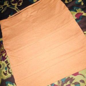 Peach Maxi Skirt by F21